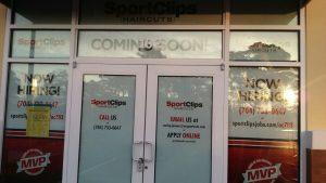 Sports Clips - Window Graphics 2