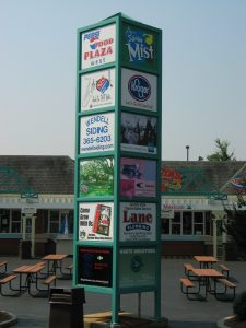 Food Plaza West - Tower Sign